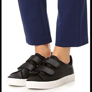Joie Black Diata Sneaker Satin Shoes Size 8